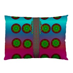 Meditative Abstract Temple Of Love And Meditation Pillow Case (two Sides)