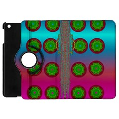 Meditative Abstract Temple Of Love And Meditation Apple Ipad Mini Flip 360 Case by pepitasart