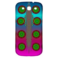 Meditative Abstract Temple Of Love And Meditation Samsung Galaxy S3 S Iii Classic Hardshell Back Case by pepitasart