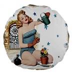 Retro 1265769 1920 Large 18  Premium Flano Round Cushions