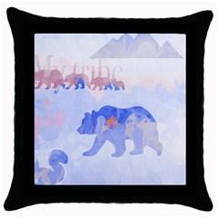 My Tribe,modern Art Throw Pillow Case (black) by 8fugoso