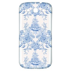 Beautiful,pale Blue,floral,shabby Chic,pattern Samsung Galaxy S3 S Iii Classic Hardshell Back Case by 8fugoso