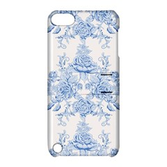Beautiful,pale Blue,floral,shabby Chic,pattern Apple Ipod Touch 5 Hardshell Case With Stand by 8fugoso