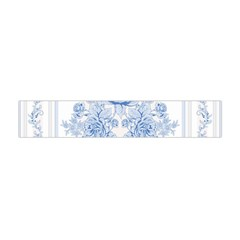 Beautiful,pale Blue,floral,shabby Chic,pattern Flano Scarf (mini) by 8fugoso