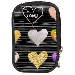Modern Heart Pattern Compact Camera Cases by 8fugoso