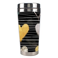 Modern Heart Pattern Stainless Steel Travel Tumblers by 8fugoso