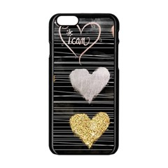 Modern Heart Pattern Apple Iphone 6/6s Black Enamel Case by 8fugoso