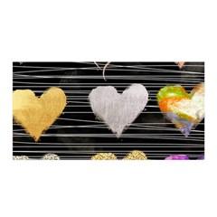 Modern Heart Pattern Satin Wrap by 8fugoso
