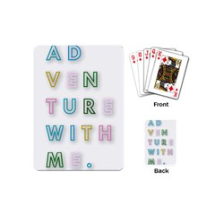 Adventure With Me Playing Cards (mini)  by 8fugoso
