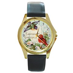 Easter 1225824 1280 Round Gold Metal Watch by vintage2030