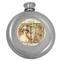 Paris 1122617 1920 Round Hip Flask (5 Oz) by vintage2030