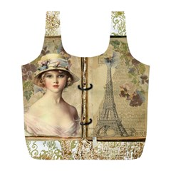 Paris 1122617 1920 Full Print Recycle Bags (l)  by vintage2030