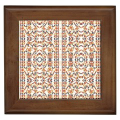 Multicolored Geometric Pattern  Framed Tiles by dflcprints