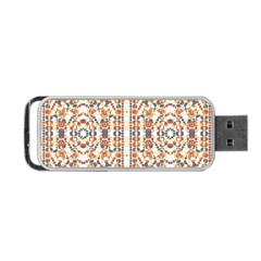 Multicolored Geometric Pattern  Portable Usb Flash (one Side)