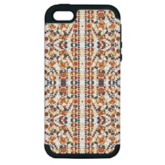 Multicolored Geometric Pattern  Apple Iphone 5 Hardshell Case (pc+silicone) by dflcprints