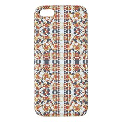 Multicolored Geometric Pattern  Apple Iphone 5 Premium Hardshell Case by dflcprints