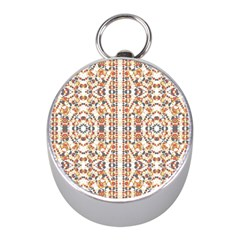 Multicolored Geometric Pattern  Mini Silver Compasses by dflcprints