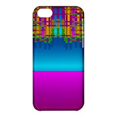 Sky Earth And Star Fall Apple Iphone 5c Hardshell Case by pepitasart