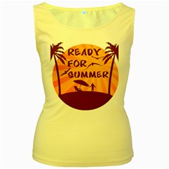 Ready For Summer Women s Yellow Tank Top by Melcu