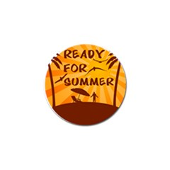 Ready For Summer Golf Ball Marker (4 Pack) by Melcu
