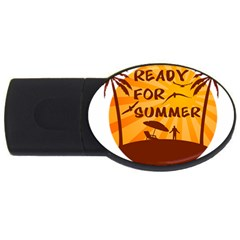 Ready For Summer Usb Flash Drive Oval (4 Gb) by Melcu