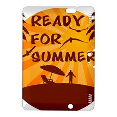 Ready For Summer Kindle Fire Hdx 8 9  Hardshell Case by Melcu