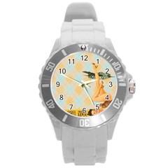 Retro 1107644 1920 Round Plastic Sport Watch (l) by vintage2030