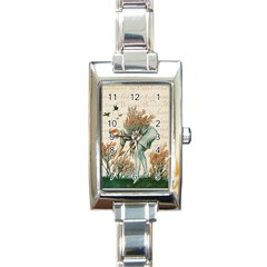 Flapper 1079515 1920 Rectangle Italian Charm Watch by vintage2030