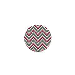 Chevron Blue Pink 1  Mini Buttons by vintage2030