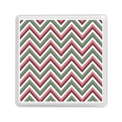 Chevron Blue Pink Memory Card Reader (square)  by vintage2030