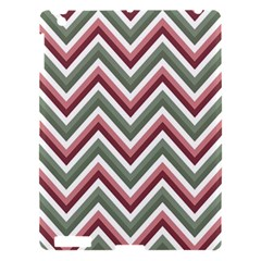 Chevron Blue Pink Apple Ipad 3/4 Hardshell Case by vintage2030