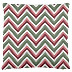 Chevron Blue Pink Large Cushion Case (two Sides) by vintage2030
