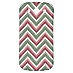 Chevron Blue Pink Samsung Galaxy S3 S Iii Classic Hardshell Back Case by vintage2030