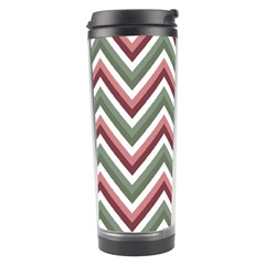 Chevron Blue Pink Travel Tumbler by vintage2030