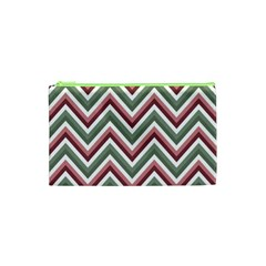 Chevron Blue Pink Cosmetic Bag (xs) by vintage2030