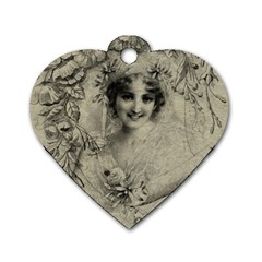 Vintage 1079414 1920 Dog Tag Heart (one Side) by vintage2030
