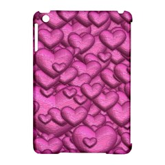 Shimmering Hearts Pink Apple Ipad Mini Hardshell Case (compatible With Smart Cover) by MoreColorsinLife