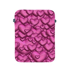 Shimmering Hearts Pink Apple Ipad 2/3/4 Protective Soft Cases by MoreColorsinLife