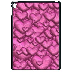 Shimmering Hearts Pink Apple Ipad Pro 9 7   Black Seamless Case by MoreColorsinLife