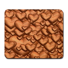Shimmering Hearts Peach Large Mousepads by MoreColorsinLife