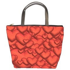 Shimmering Hearts Deep Red Bucket Bags by MoreColorsinLife
