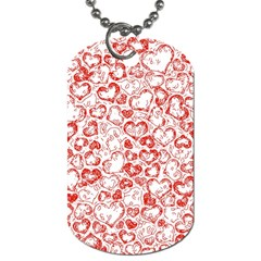 Vivid Hearts, Red Dog Tag (two Sides) by MoreColorsinLife