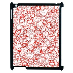 Vivid Hearts, Red Apple Ipad 2 Case (black) by MoreColorsinLife