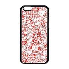 Vivid Hearts, Red Apple Iphone 6/6s Black Enamel Case by MoreColorsinLife