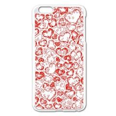 Vivid Hearts, Red Apple Iphone 6 Plus/6s Plus Enamel White Case by MoreColorsinLife