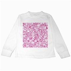 Vivid Hearts, Pink Kids Long Sleeve T Shirts by MoreColorsinLife
