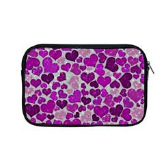 Sparkling Hearts Purple Apple Macbook Pro 13  Zipper Case