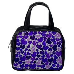 Sparkling Hearts Blue Classic Handbags (one Side) by MoreColorsinLife