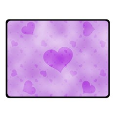 Soft Hearts D Fleece Blanket (small) by MoreColorsinLife