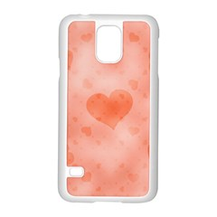 Soft Hearts C Samsung Galaxy S5 Case (white) by MoreColorsinLife